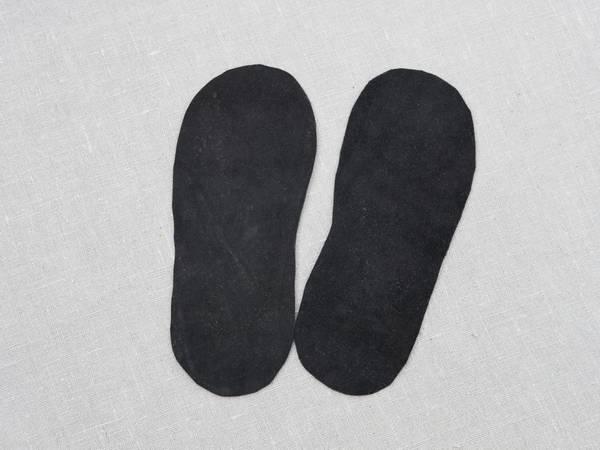 Bilde av  Skinnsåler til tova tøfler, barn, uten hullkant